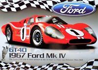 PLAQUE métal vintage FORD GT 40 MK IV 1967 LE MANS - 40 X 30 CM