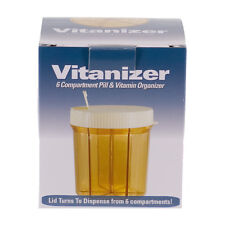 Vitanizer 6-Section Pill Organizer Vitamin Dispenser Medicine Container