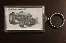 Vintage 1946 Ford NZ Tractor Combines Farm Equipment Keychain Key Ring Harvest