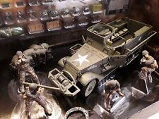US  M3A1 Half Truck * Normandy 1944 * Militär Ketten LKW *  Forces of Valor 1:32