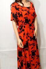 Marina Kaneva London Fiesta Floral Dress in Orange/Black UK22 EU40 RRP£69.99