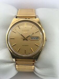 Seiko 5 Automatic Vintage Day&Date Gold Plated 34mm 6809-8970  Men's Watch
