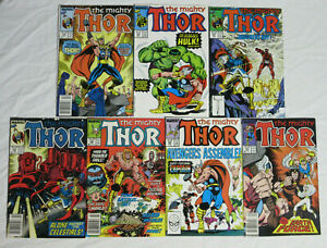 THE MIGHTY THOR #384-385 387-390 395 * Marvel Comics Lot * 388 389 1987 Vintage