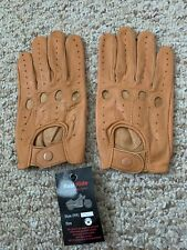Tan leather Men driving Gloves in Size Medium