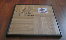 PEYTON SIVA SIGNED & FRAMED LOUISVILLE CARDINALS LOGO FLOOR TILE W/ COA + INSCR