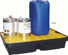 40 Ltr Sump Spill Tray. Removable surface grid. Oil Chemical Bunded Drip Pallet
