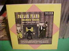 """DECCA 1951 10"""" 1951 LP DL 5372 FRANKIE FROBA PARLOR PIANO SOLOS W BASS AND DRUMS"""