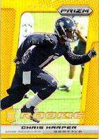 2013 Panini Prizm Football Gold Prizms Card #212 Chris Harper Seahawks 03/10