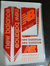 NEW BALANCE TC 1260 RED/ORANGE CRICKET BAT STICKERS BUY 1 GET 1 SAME FREE