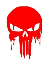 Bloody Red Punisher Skull Reflective Car Truck Boat sticker DECAL BEST GIFT-
