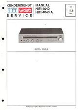 ITT/Graetz Service Manual für HiFi 4040 / A