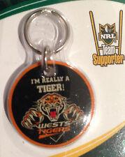 NRL TIGERS PET DOG PUPPY CAT KITTEN ID TAG OR KEY RING BNIP
