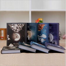 1pc Luxury Notebook with Lock Box Journal Diary Book Moonlight Notepad Gift CV
