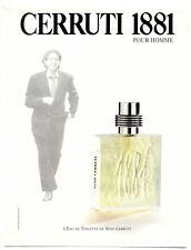 1995 / Publicité Parfum NINO CERRUTI 1881 pour Homme / publicity / advertising