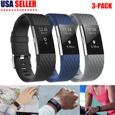3 Pack For Fitbit Charge 2 Band Replacement Wristband Silicone Fitness Large