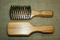 Olivenholz Haarbürste, Wildschweinborste, Naturborsten, Holzbürste, neu, 18cm