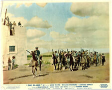 The Alamo Original Lobby Card  Laurence Harvey and troops by Fort 1960