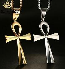 Large Ankh Necklace Stainless Steel Religion crucifix Pendant Cross