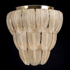Clio suspension en verre de Murano ambre vintage