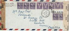 1943 USA oversize censored WWII cover sent from Dallas TX to Surbiton Surrey UK