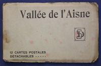 12 Ansichtskarten Postkarten Vallee de'l Aisne um 1920 Frankreich Fotografie sf