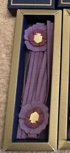 BNIB Fairfax & Favor CFS 2020 Limited Edition Flower Show Tassels Purple Genuine