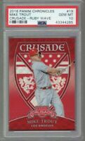 2018 Panini Chronicles Crusade MIKE TROUT Ruby Wave Prizm /199 PSA 10 Gem Mint