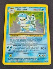 Blastoise - 2/102 - Holo Rare Unlimited Base Set Poor Pokemon Card