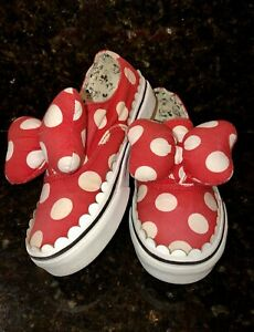 Vans Kids Girls Youth x Disney Authentic Gore Minnie Mouse Bow Slip-On Shoes