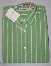 ORIGINAL JOE BLACK   Chemise coton vert et rayures blanches 8 ans neuf