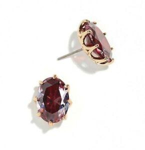 NWT Kate Spade New York Shine On Gold-Tone Stone Oval Stud Earrings Ruby