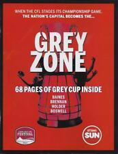 2017 Grey Cup Final Calgary Stampeders - Toronto Argos Unofficial Program Sun