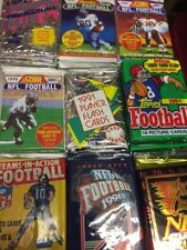 Unopened Football Card Wax Packs-Lot Of 6 different Packs-late 80's early 1990's