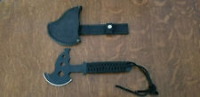 """Stainless 10.5"""" Hunting Survival Tactical Hatchet with Sheath and Paracord"""