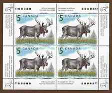 Canada Stamps - Souvenir Sheet of 4 - Wildlife: Moose #1693 - MNH