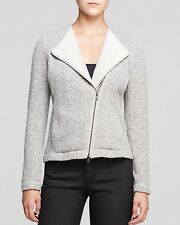 PL NEW EILEEN FISHER ASH ORGANIC COTTON TWISTED TERRY MOTO JACKET $258