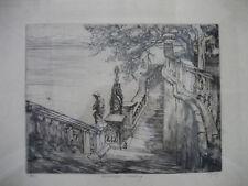 Oscar conde, 1873 Freiburg - 1958 Bad Boll, castillo escalera mar Castillo