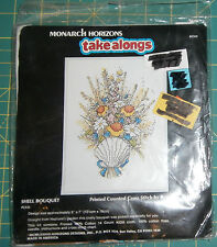"Shell Bouquet Monarch Horizons Take Along Cross Stitch Unopened 5"" x 7"""