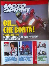 MOTOSPRINT n°4 1993 Gilera 250 - Yamaha GTS 1000 - Elaborazioni Scooter  [P74]