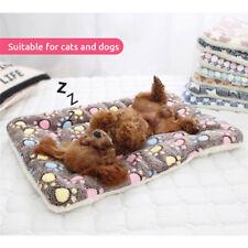 Pet Sleeping Mat Dog Puppy House Kennel Warm Fleece Winter Sleep Blanket Bed Pad