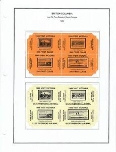 1989 - 1990 Juan De Fuca Despatch Courier Service Labels