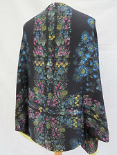 Ted Baker Unity Floral Silk Cape Scarf RRP£99 Black - STUNNING! NEW!