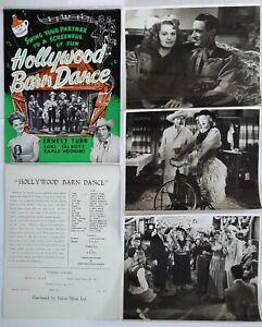 HOLLYWOOD BARN DANCE [1947] Exclusive FILM STILLS, SYNOPSIS SHEET Ernest Tubb