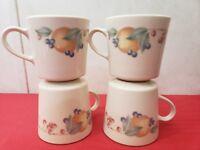 4 Corelle Corning Ware ABUNDANCE FRUIT Coffee Mugs Cups Tea 8 oz