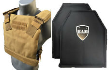 Level IIIA 3A | Body Armor Inserts | Bullet Proof Vest | BAM Low Pro Vest -TAN
