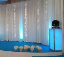 WHITE ice silk 3Mx3M Wedding Backdrop Curtain .Detachable Swag . 4 pipe /drape