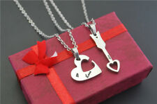 Love Gifts Lover For Him Her Heart Necklace Love Couple Gift Present Pendant