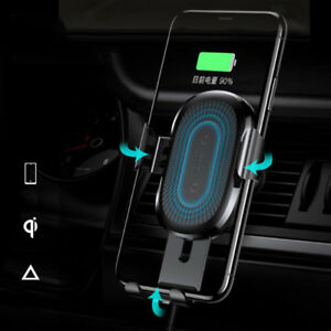 Qi Wireless Charger Car Air Vent Gravity GPS Mount bracket For iPhone X 8 Plus