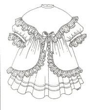 """15-16"""" Doll Toddler Dress Pattern Victorian German French Antique vintage look"""