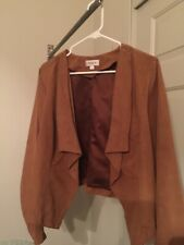 AVENUE  Women 16/18 Open Front Cardigan Brown Color Nice Condition